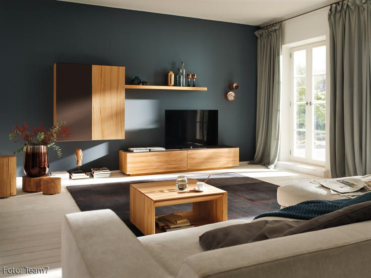 Wandfarbe Petrol Room decor, Apartments and Living rooms - wandfarbe petrol
