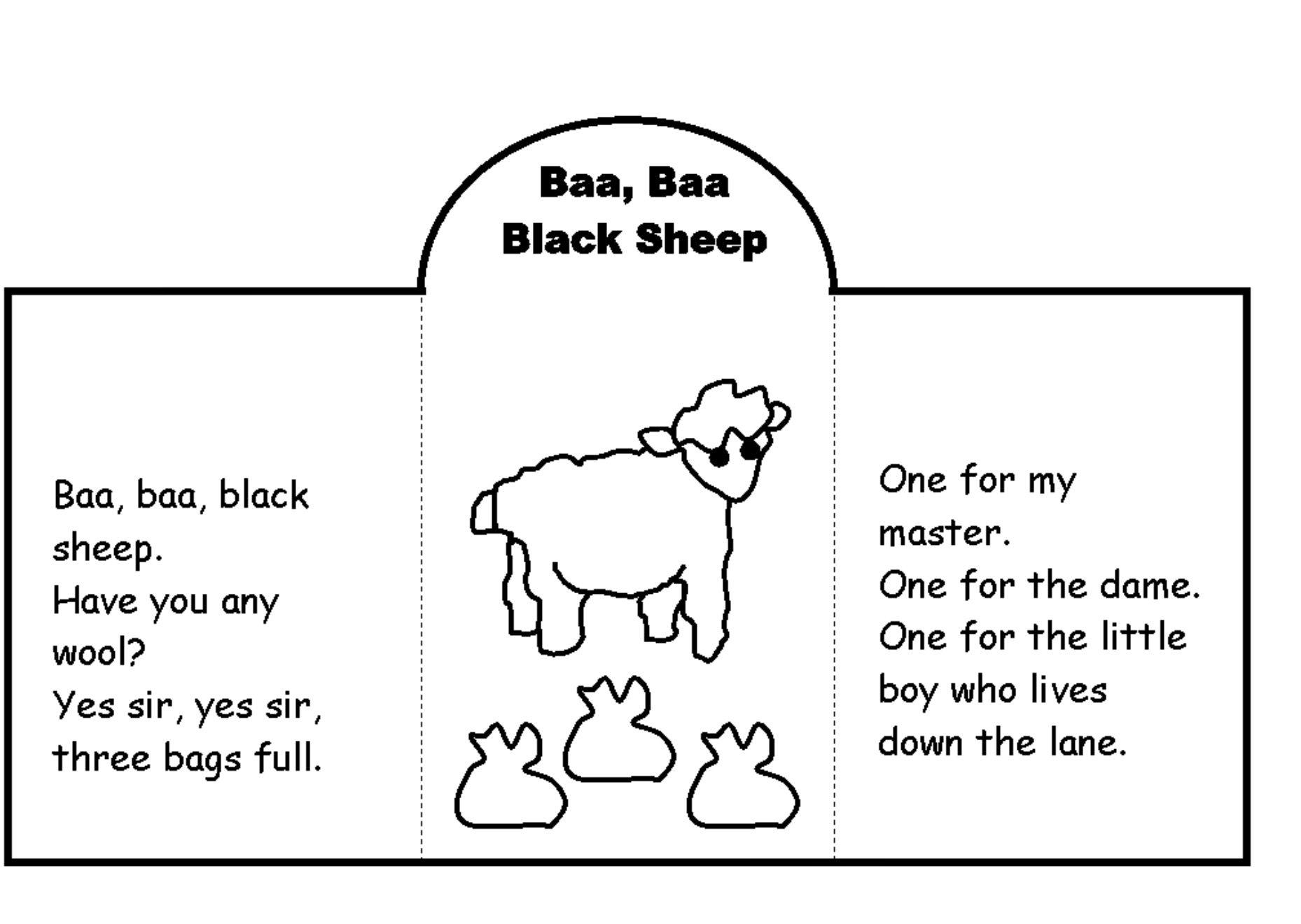 Nursery Rhyme Ba Ba Black Sheep