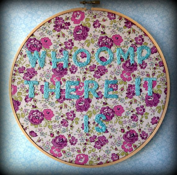 Whoomp There It Is  Hip Hop Liberty Fabric by FawnandSquirrel, $26.00