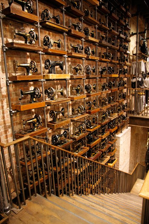 Now Open AllSaints Soho Sewing Machines as Art Pinterest Classy Singer Sewing Machine Stores