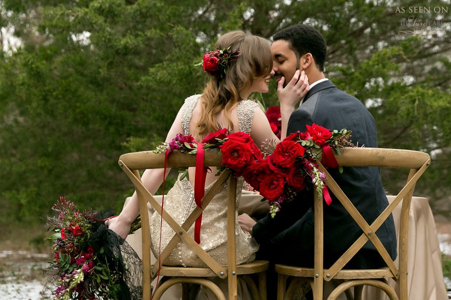 Floral by Haute Floral Dallas wedding wwwhautefloral red winter - best of blueprint dallas blog