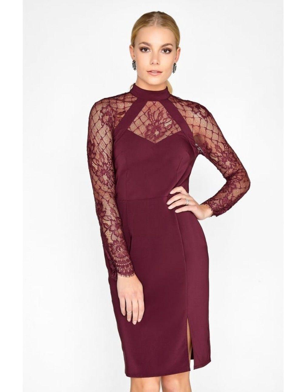 Lace dress bodycon  Merlot Lace Dress  dresses  Pinterest  Lace dress Bodycon dress