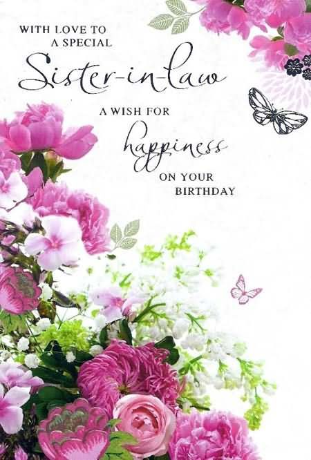 With Love To A Special Sister In Law A Wish For Happiness On Your