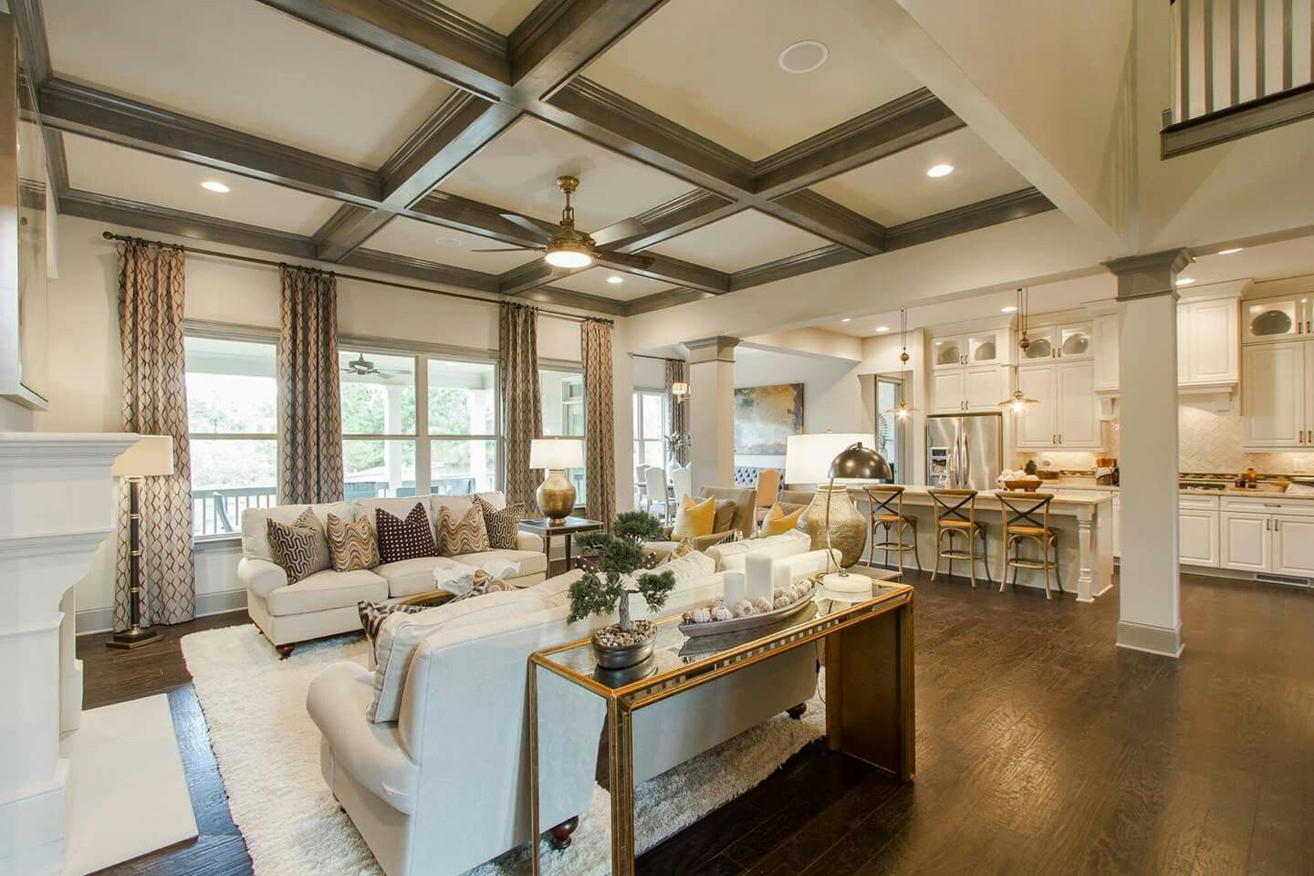 I Love the Coffered Ceiling Simply
