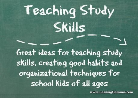 Tips and Tricks for Teaching Study Skills to Kids #tippsundtricks