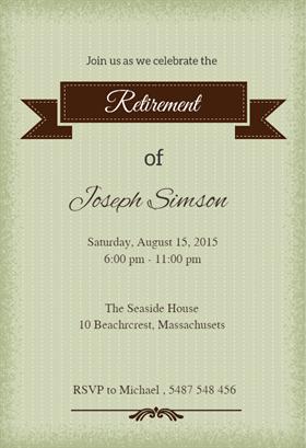 Classic Banner Retirement Farewell Party Invitation