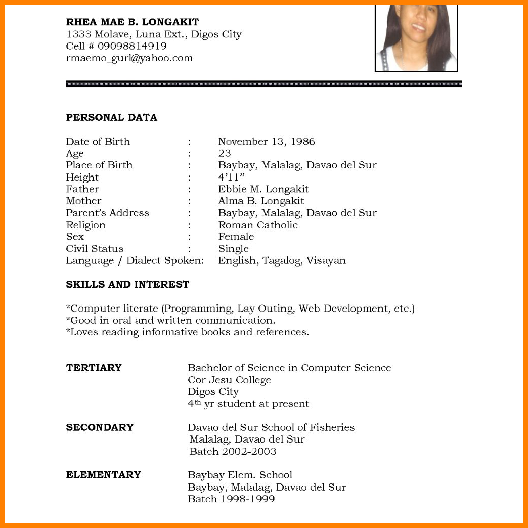 Student Resume Word Template from i.pinimg.com