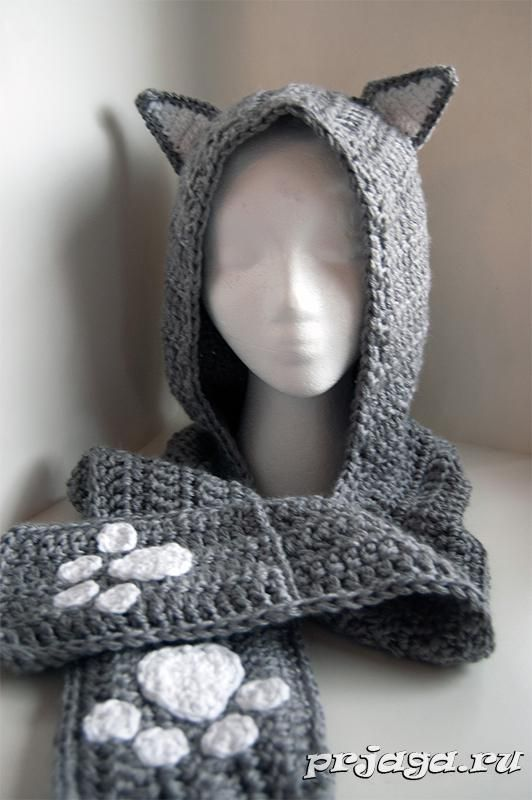 Шарф – капюшон крючком | crochet projects | Pinterest