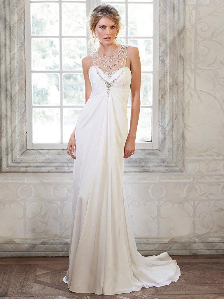 Maggie sottero wedding dresses maggie sottero illusion neckline