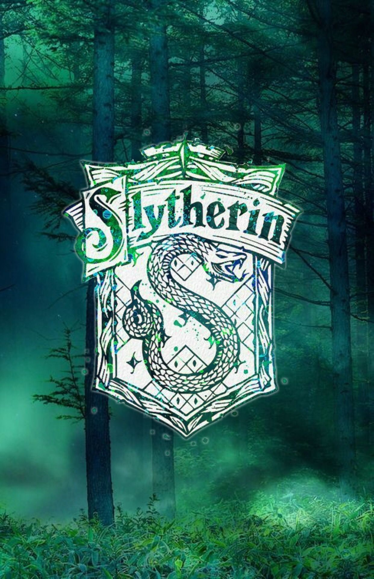 80 Slytherin Iphone Wallpapers On Wallpaperplay Harry Potter Wallpaper Harry Potter Art Slytherin Wallpaper
