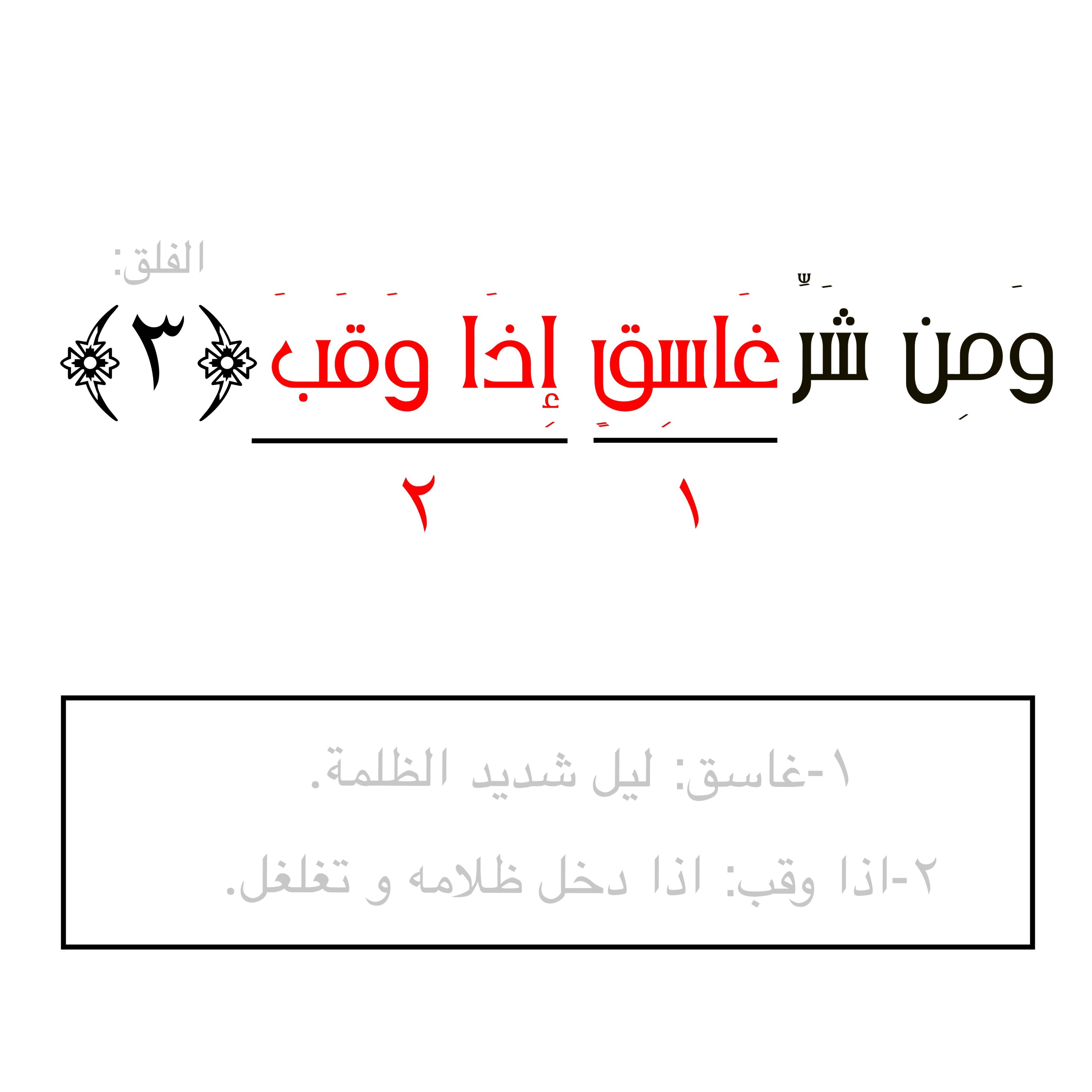 الاسلام القرآن سورة الفلق اية كلمة معنى Arabic Calligraphy Verse Calligraphy