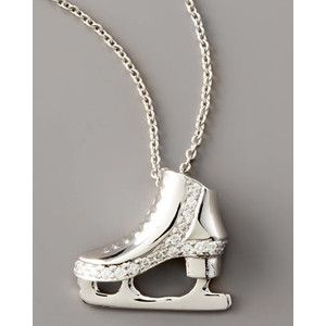 ice skating Jewelry | Roberto Coin Diamond Wedge Ice Skate Necklace