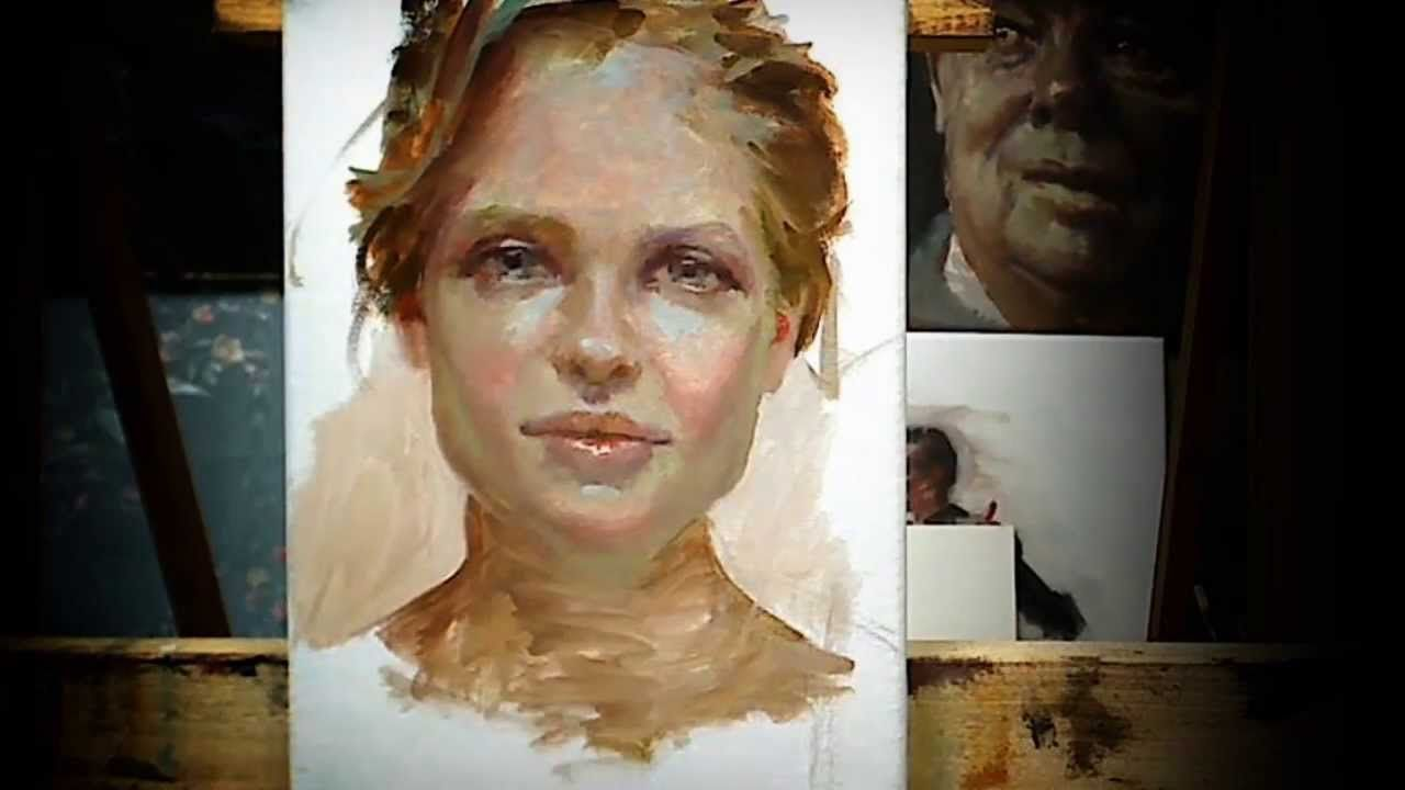 Portrait Study Mit Bildern Aquarellfarben Acrylfarbe Painting