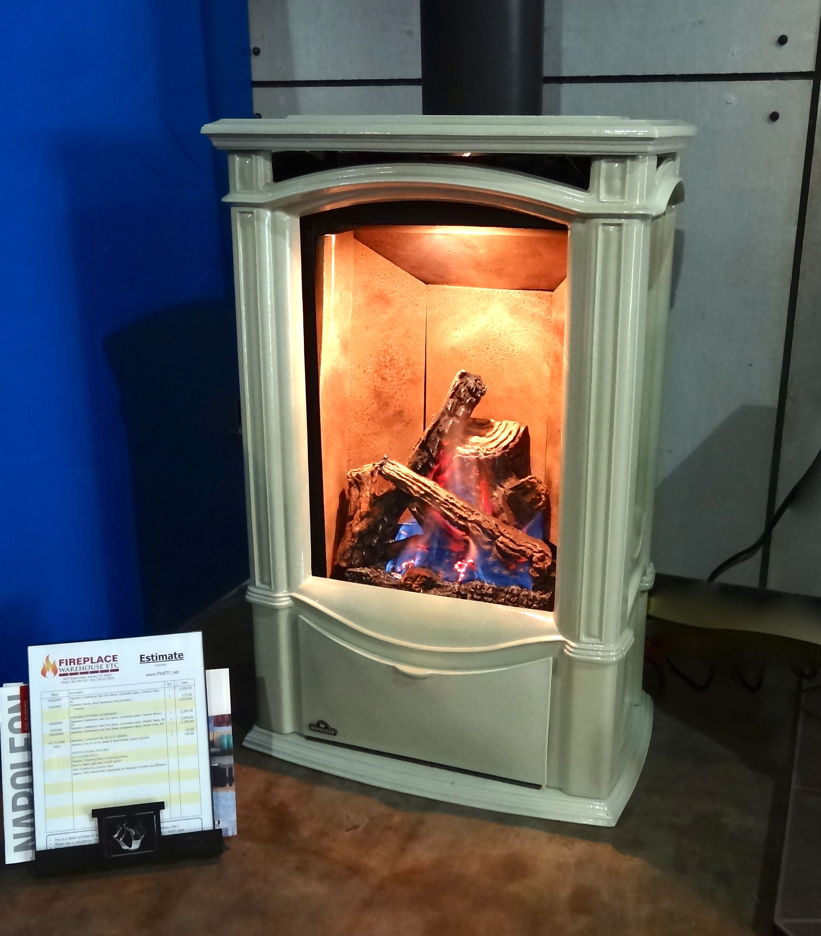 Gas Stove Fireplace Free Standing Ventless Gas Fireplace