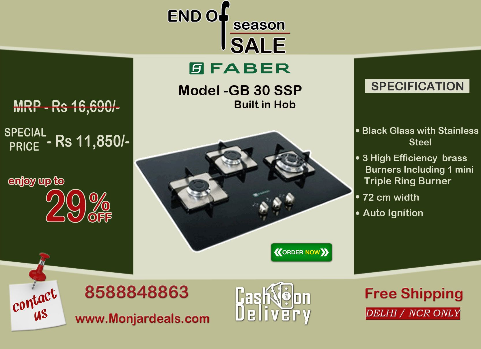 Uncategorized Faber Kitchen Appliances faber 3 burners built in hobs is available on monjardeals kitchen