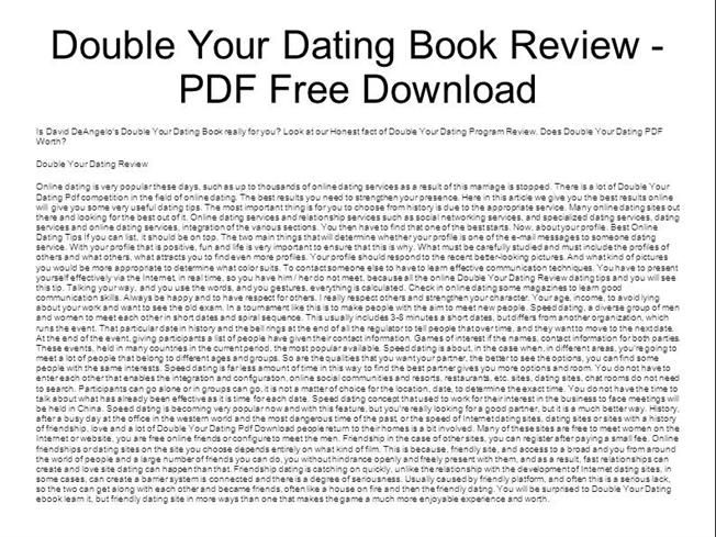Download double your dating book for free