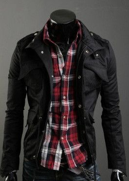 Men's Military Style Jacket | Mens military style jacket, Military ...