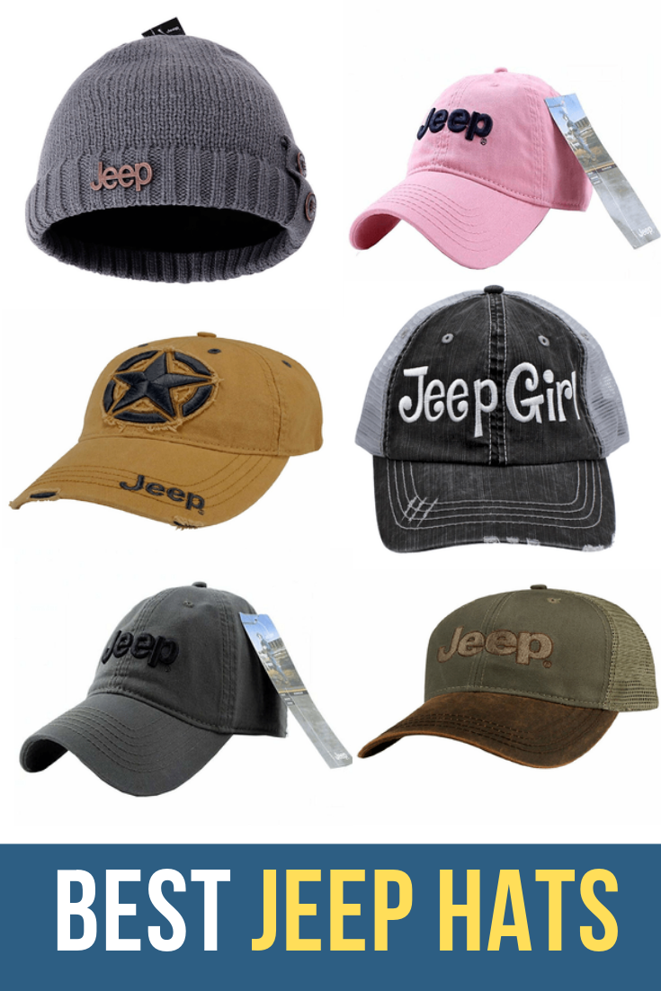 4d8a7026f12d5 Jeep Hats. Show your pride for the classic American Jeep Wrangler brand  with a Jeep hat. Made from cotton twill Jeep caps are sturdy and durable.