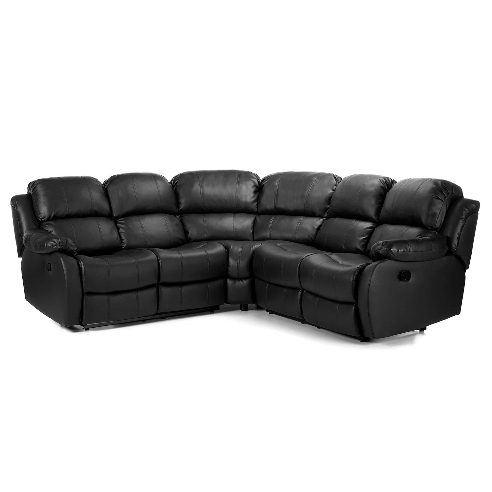 Anton Bonded Leather Reclining Corner Sofa in 2020 | Leather