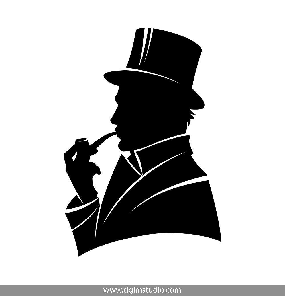 Monochrome Smoke Logo Set: Silhouette Vector, Monochrome