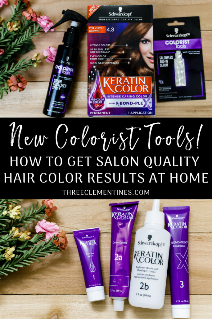 How To Get Salon Quality Hair Color At Home Three Clementines Hair Color Salon Hair Color At Home Hair Color