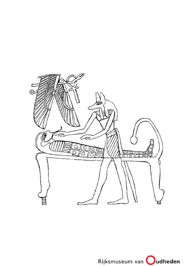 Huis Anubis Kleurplaten Printen.Een Kleurplaat Van Een Egyptische Mummie En De God Anubis Deze
