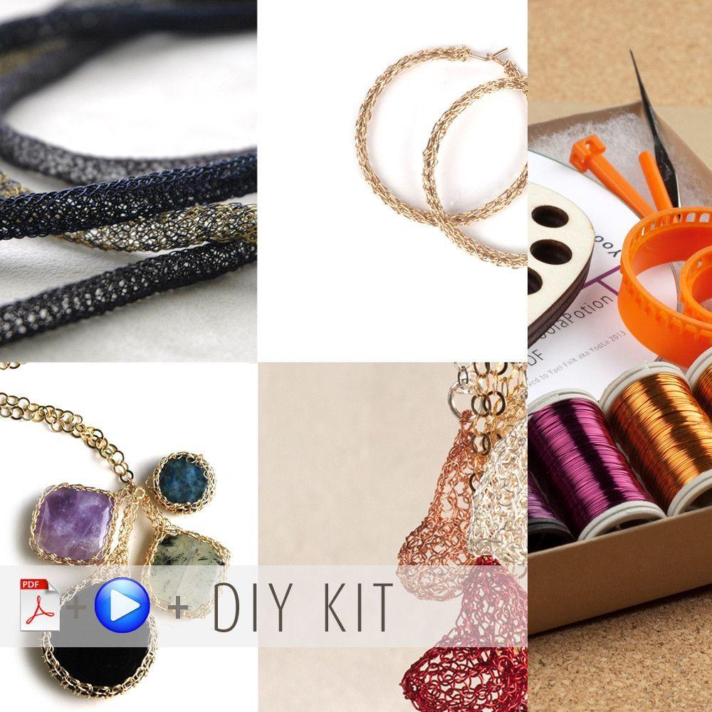 Yoola TOPAZ wire crochet jewelry making DIY gift Kit - Wire Crochet ...