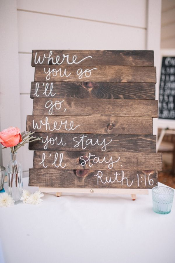 22 Great Wedding Sign Ideas to Inspire Your Big Day | Reception ...