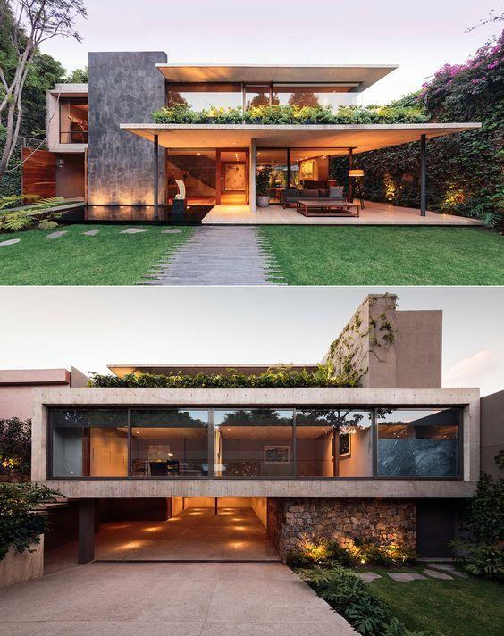 Casa moderna de amplio territorio casas fachadas de for Archi in casa moderna