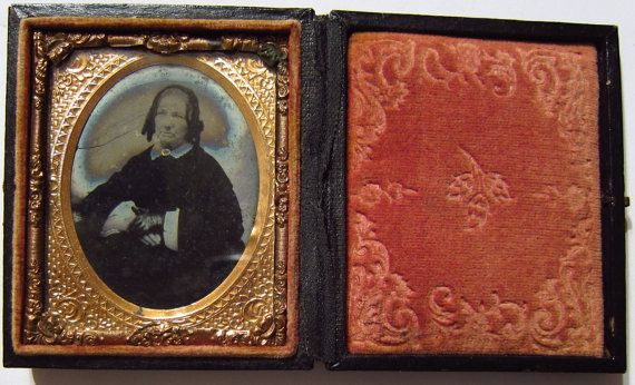 1860's Portrait of Mourning Widow Civil War by ViksVintageJewelry, $200.00