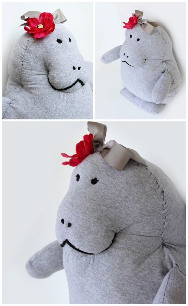 Up-cycle a Tee Shirt into a Manatee Pillow Pet (Tutorial & Pattern ...
