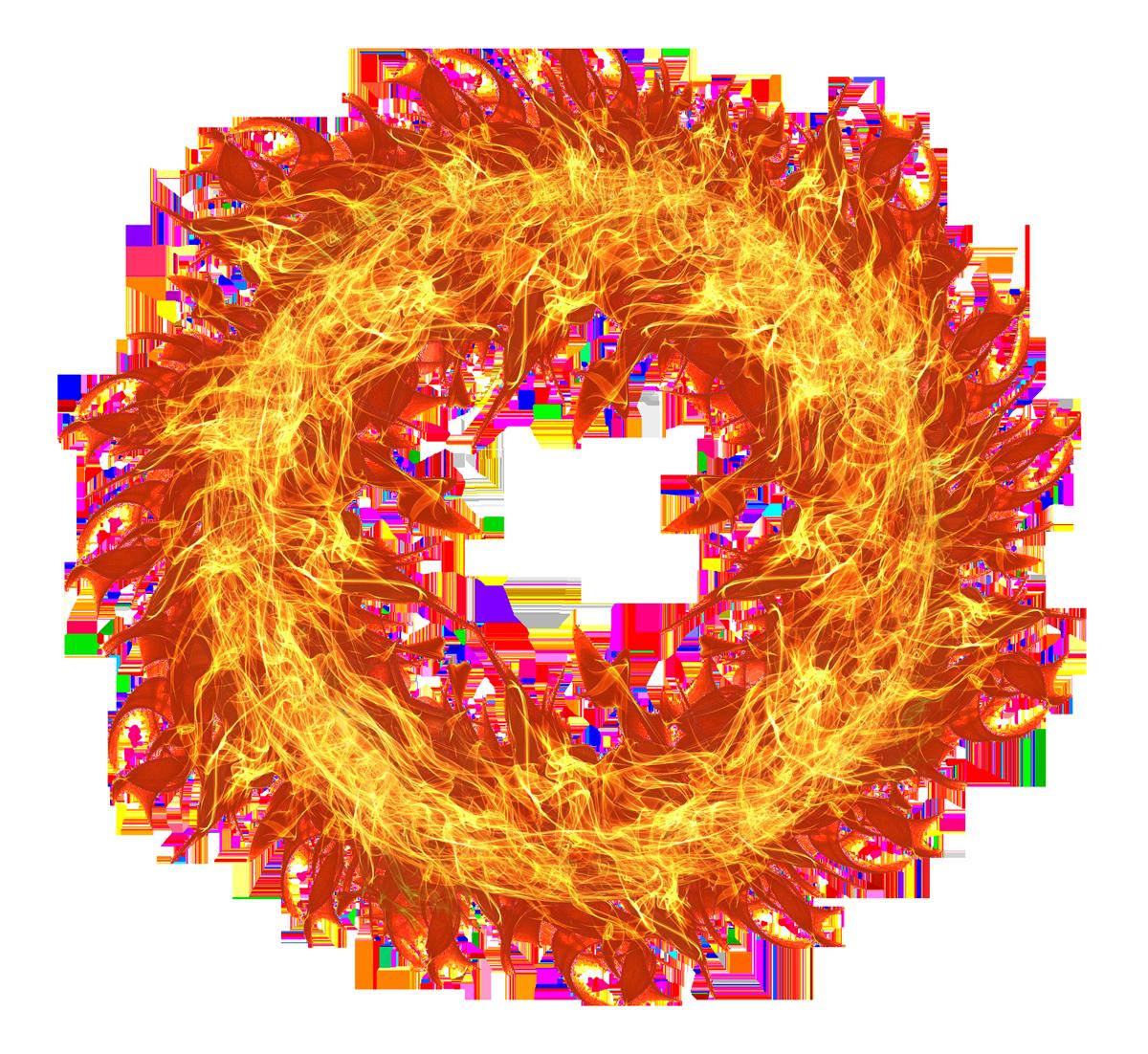 Fire Flame Circle Png Image Dnd Plantas