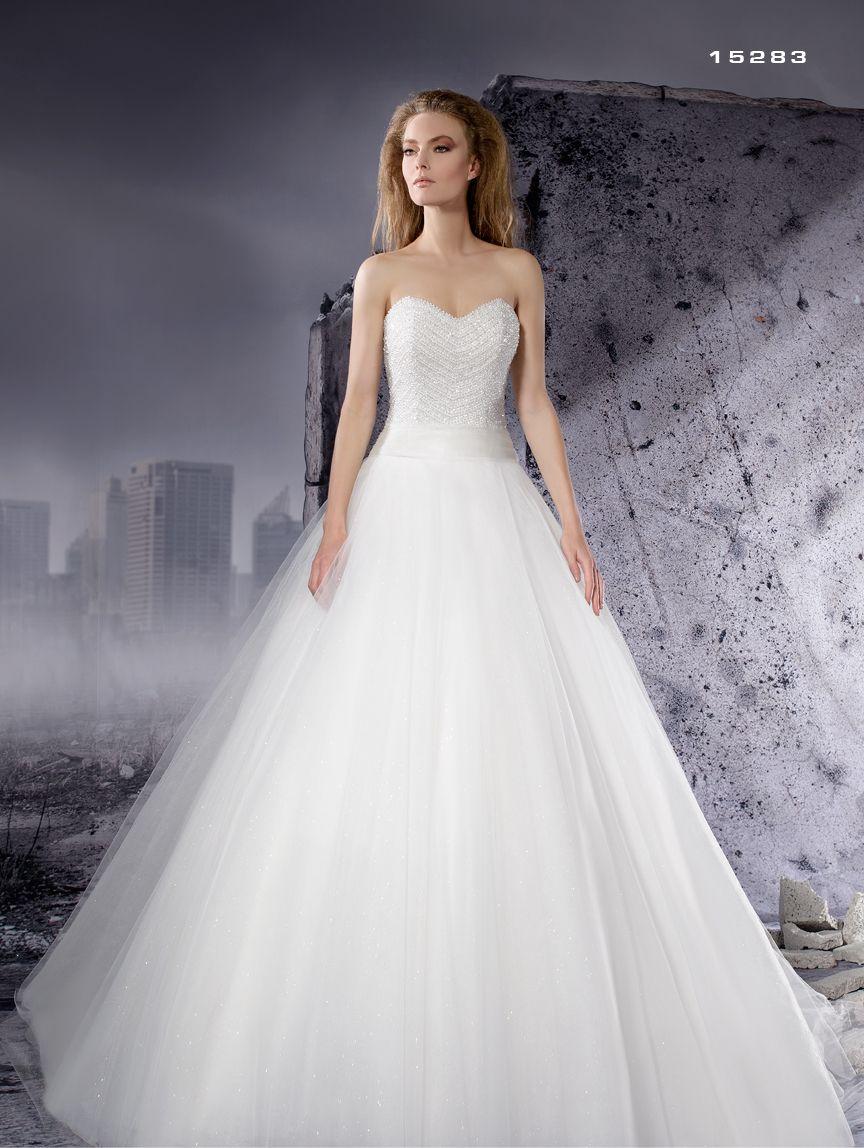 6062beda74a5 Abito da sposa corpetto luminiso Dalin 2016 per Bride Project Buttrio  www.brideproject.it