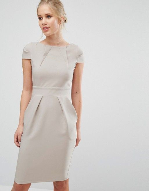 7f828c73b Closet London | Closet Cap Sleeve Midi Pencil Dress with Tie Back ...