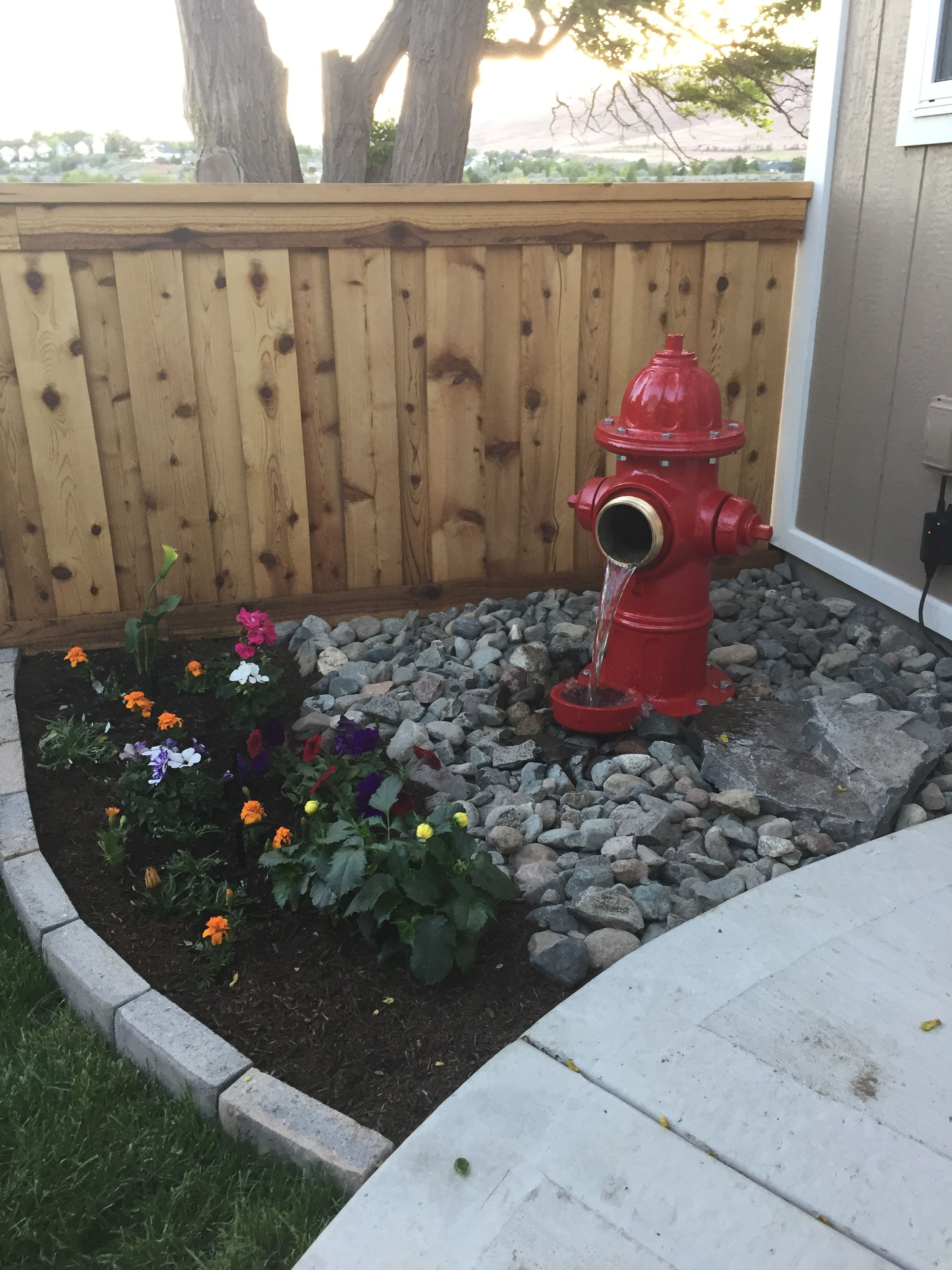 Fire Hydrant Water Fountain Diy Water Feature Backyard Dog Area Diy Water