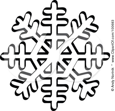 35+ Clipart Snowflakes Black And White