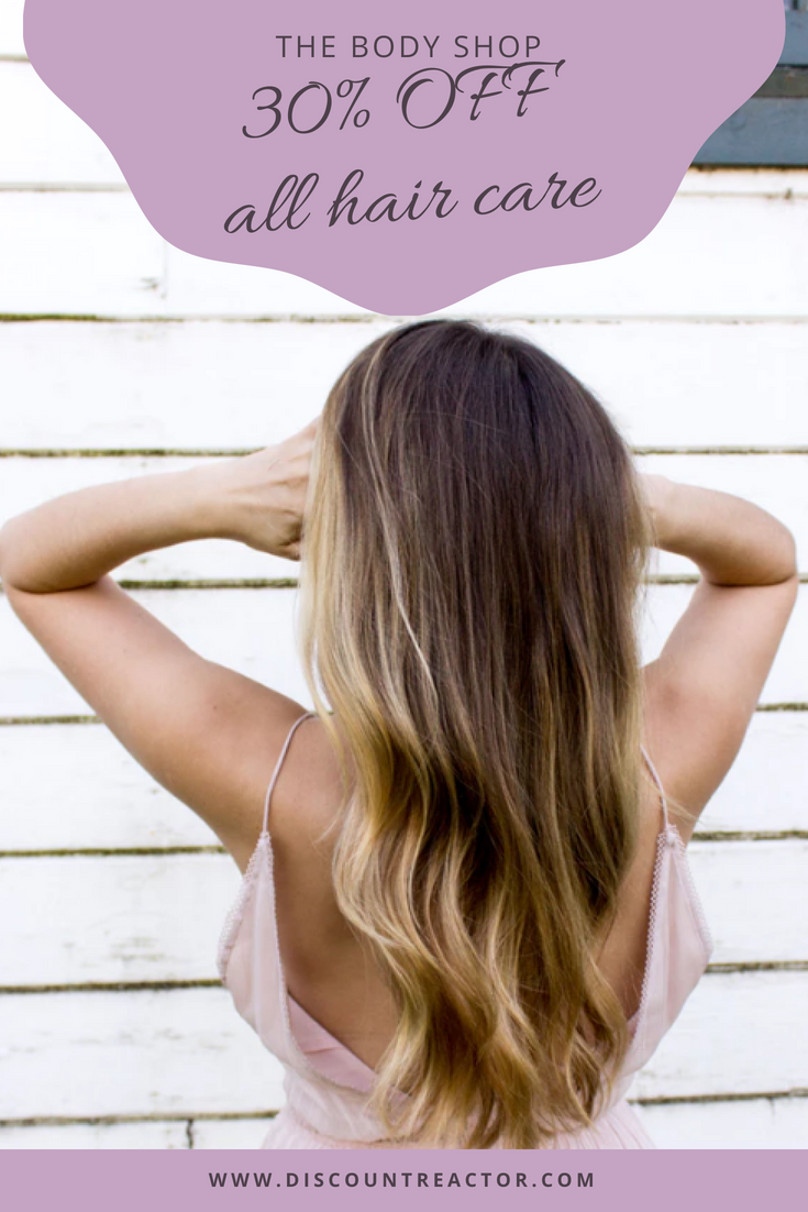 Make your hair shiny and silky with care products from The Body Shop