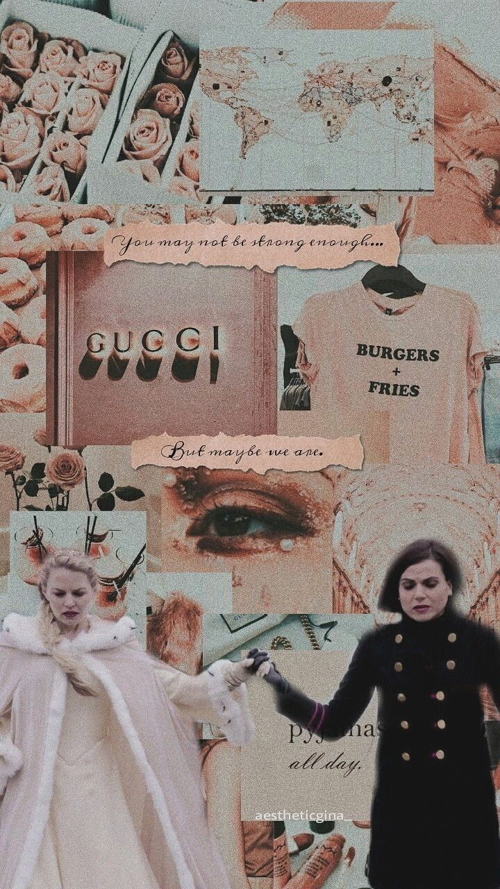 Emma Swan & Regina Mills SwanQueen Wallpaper | Vision board in 2019 | Fondos collages, fondos ...