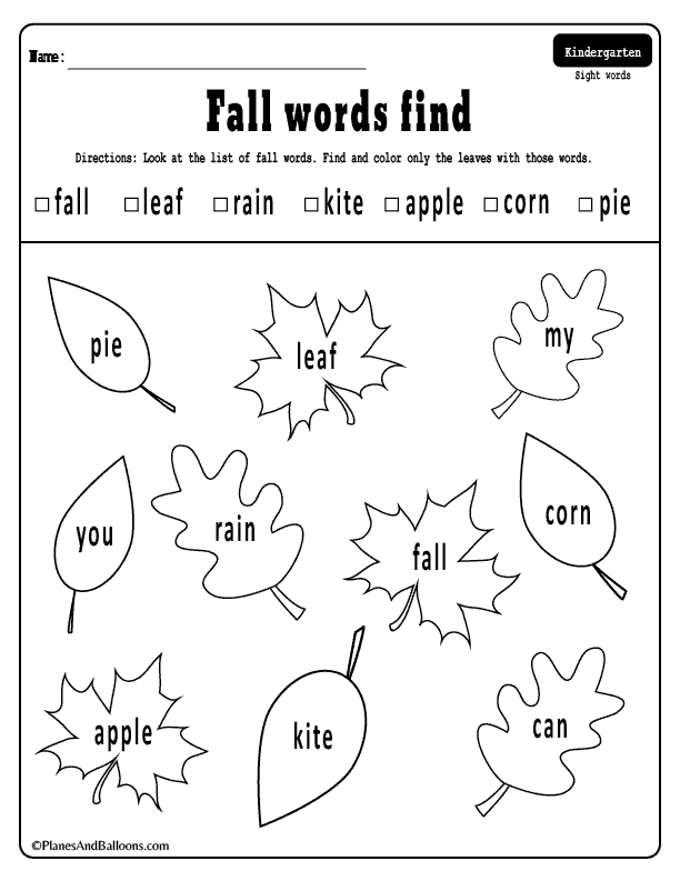 Free Printable Fall Activities For Kindergarten Fun Fall Worksheets For Math And Literacy Cent Fall Worksheets Fall Kindergarten Kindergarten Fall Worksheets