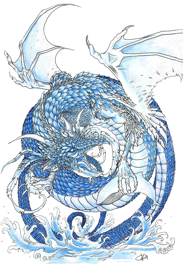 Water Dragon By Koggg On Deviantart Water Dragon Dragon Drawing Dragon Sketch