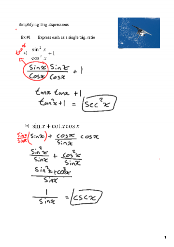 Worksheets Simplifying Trig Identities Worksheet today we will learn how to simplify trig expressions for understating the concept of