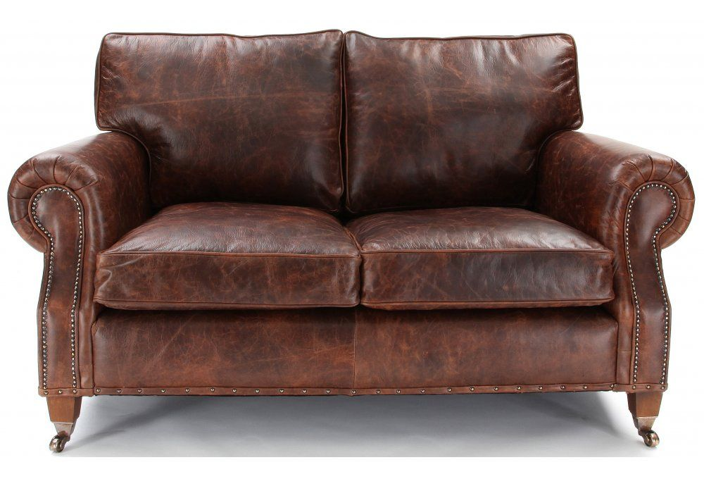 Exceptionnel Hepburn | Shabby Chic Vintage Leather Small 2 Seater Sofa