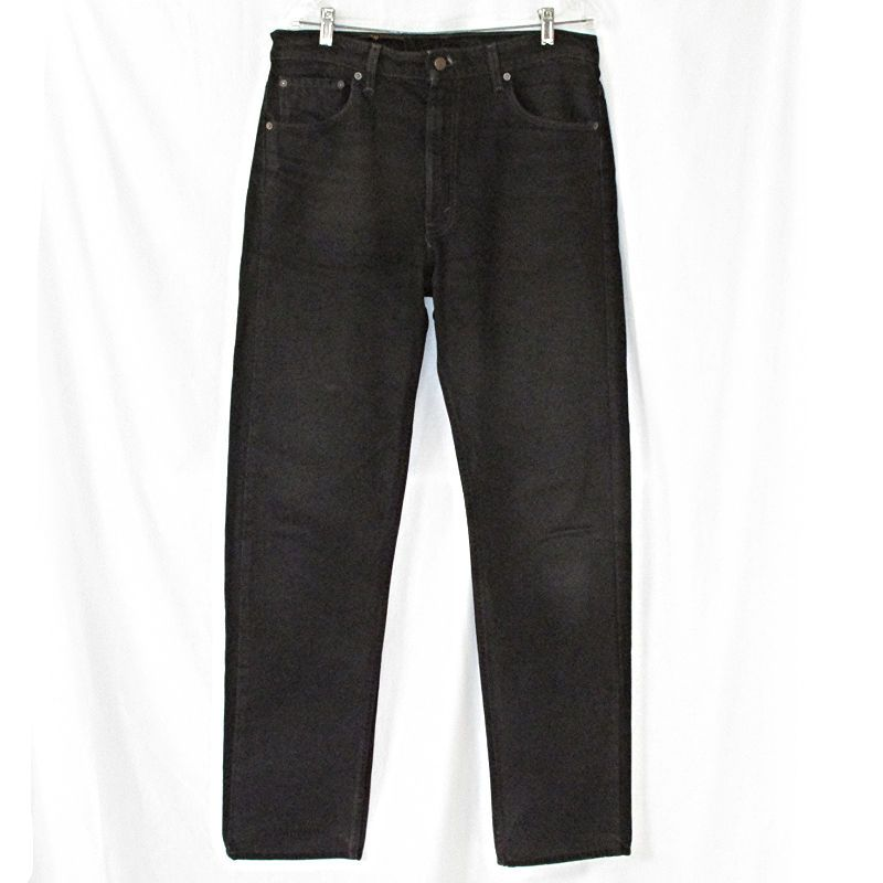Vintage Mens Levis 505 Black Jeans Regular Fit Straight Leg