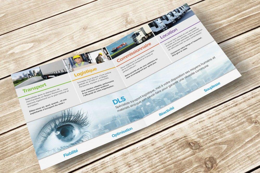 Extrêmement Création d'une plaquette commerciale pour DLS | 2 pages, 1 pli et  PW57