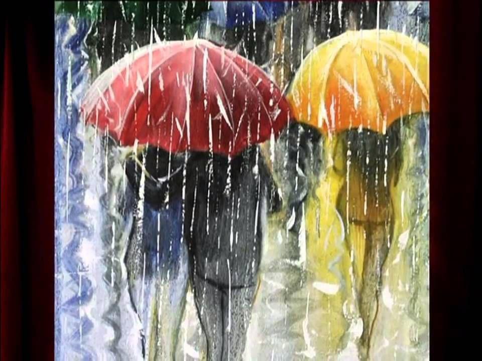Дождливая погода картинки гуашью
