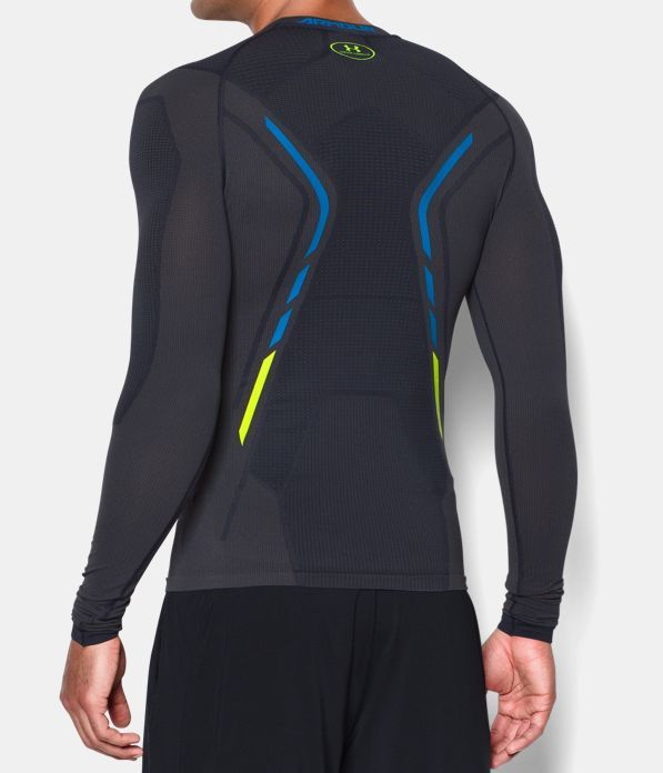 Grey Sports Running Gym Breathable Under Armour Mens Seamless Long Sleeve Top