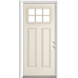 Reliabilt Left Hand Inswing Primed Steel Entry Door With Insulating