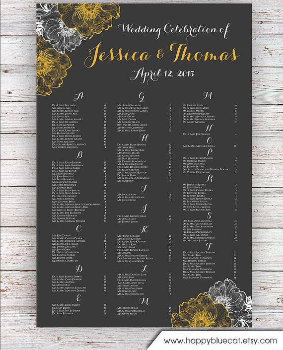 seating chart poster template free