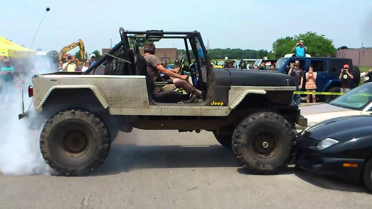 Jeeps Driving Over Cars Jeep Crushing Cars And Burnout Jeep