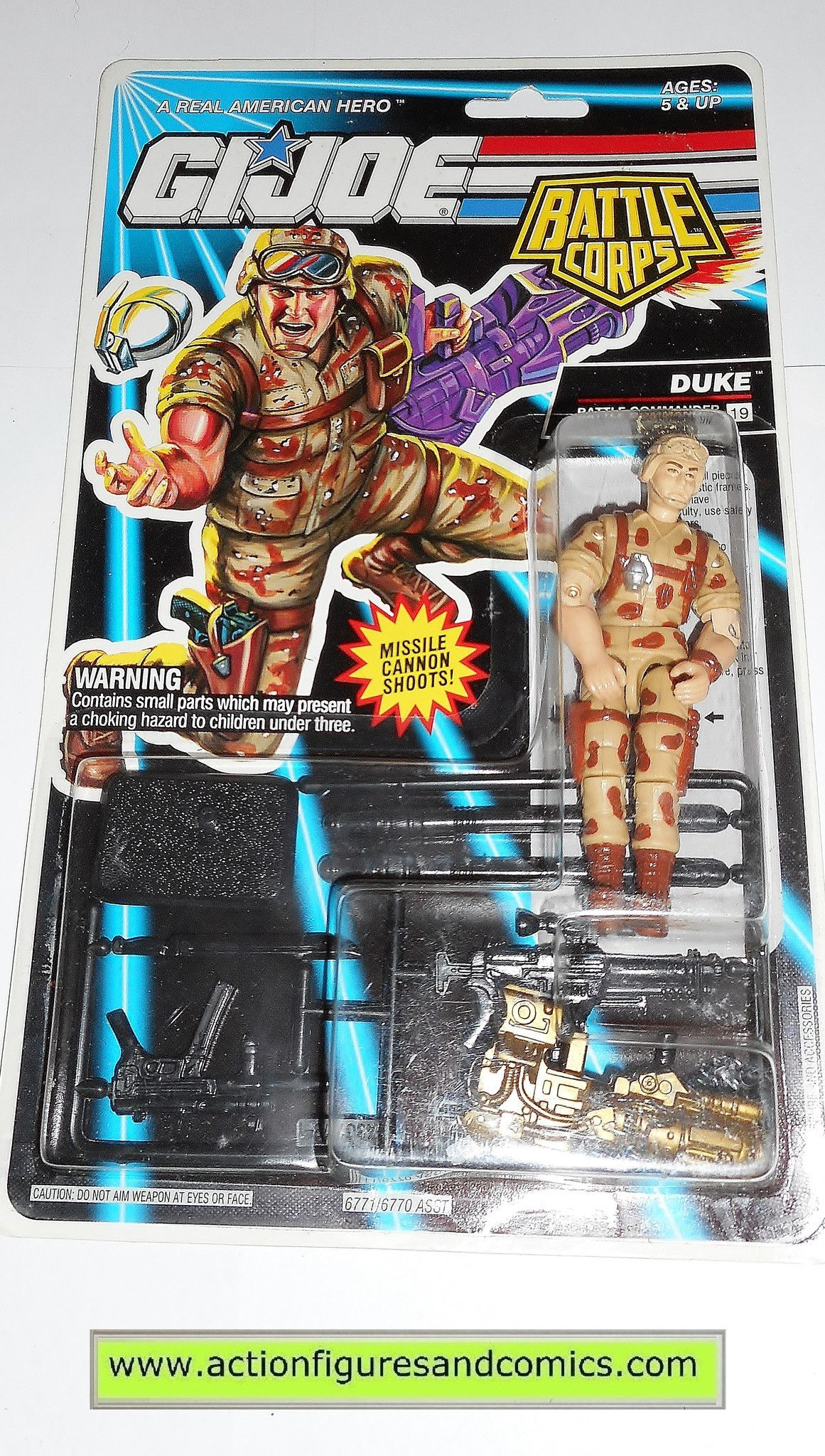 gi joe DUKE 1993 v4 battle corps vintage action figures hasbro